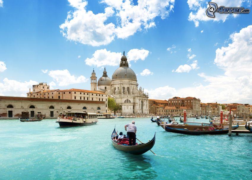 Venedig, fartyg, historisk byggnad