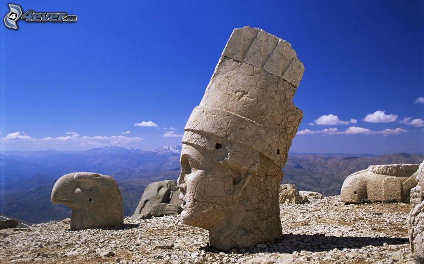 staty, huvud, Turkiet, utsikt