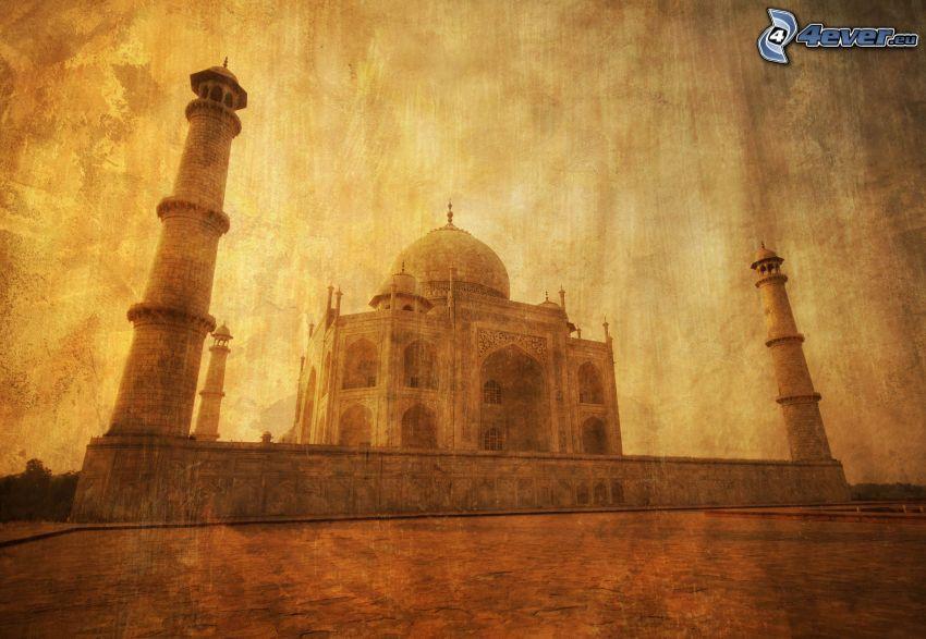 Taj Mahal, sepia