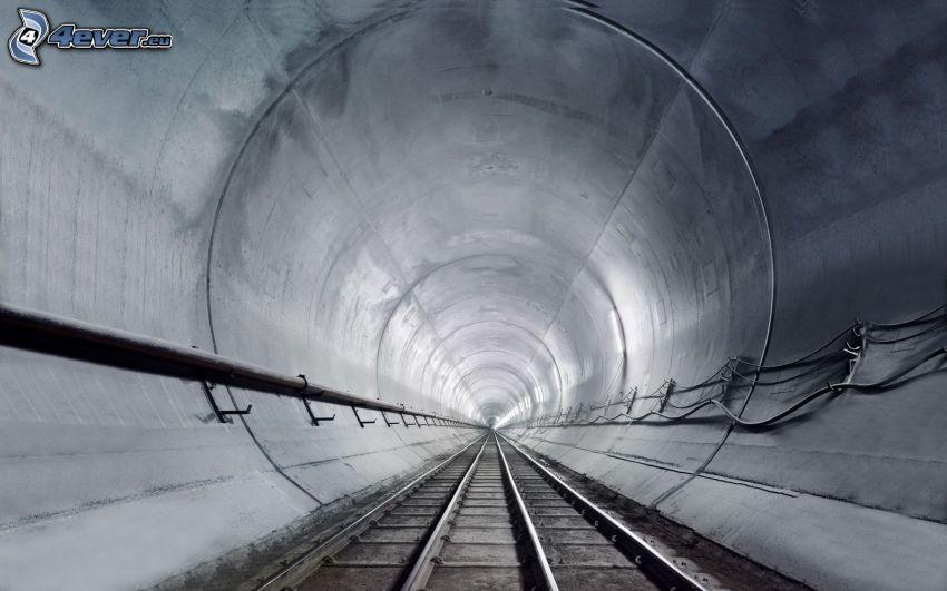 tunnel, tunnelbana, järnväg