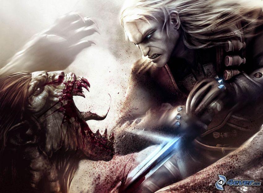 PC spel, djävulen, riddare