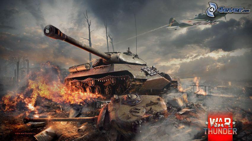 War Thunder, tankar, slagsmål