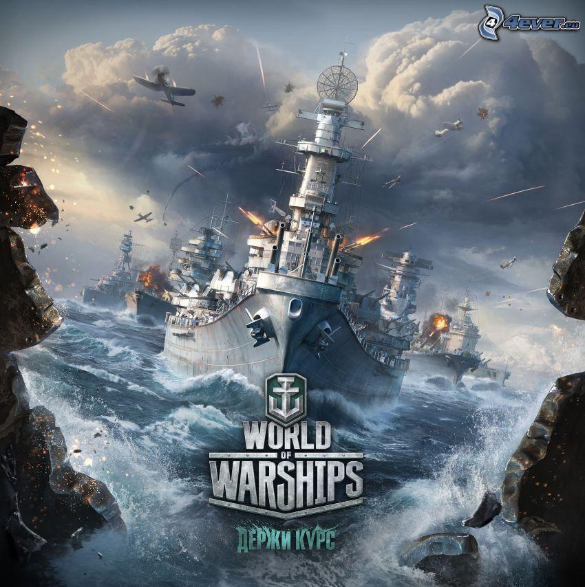 World of Tanks, fartyg, flygplan, skytte
