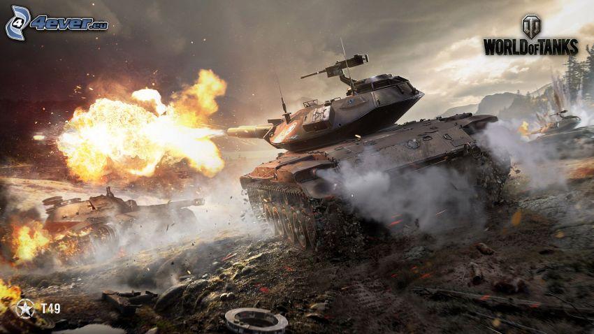 World of Tanks, T49, skott