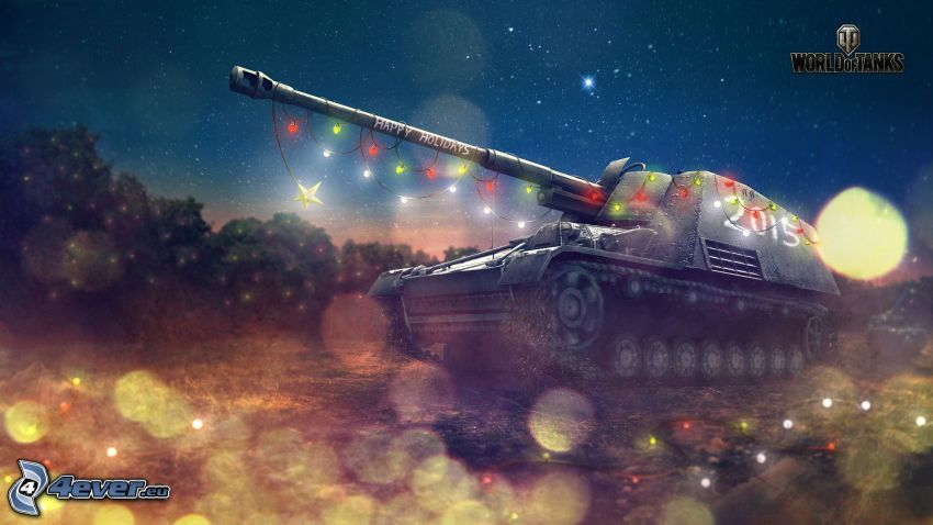 World of Tanks, tank, belysning