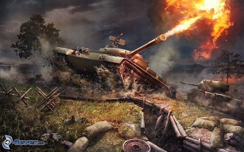 World of Tanks, tankar, skytte