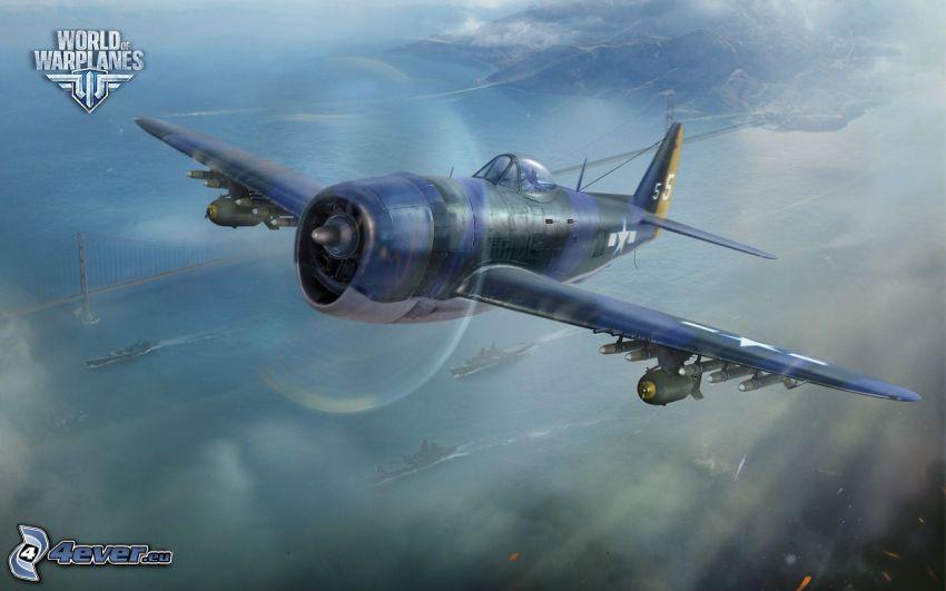 World of warplanes, flygplan, fartyg