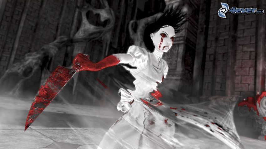 Alice Madness Returns, blodig hand