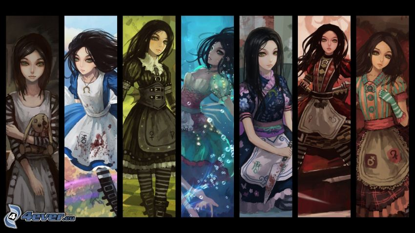 Alice Madness Returns, collage