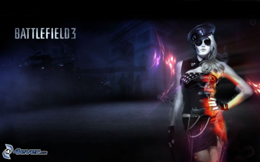 Battlefield 3, kvinnopolis, kvinna
