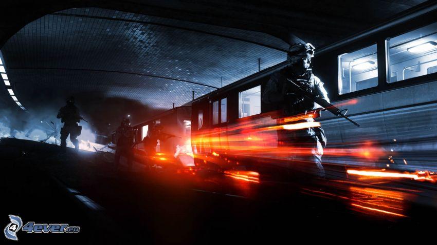 Battlefield 3, militärer, tunnelbana