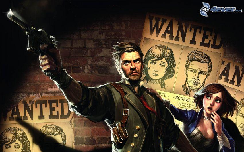 Bioshock: Infinite, man med vapen