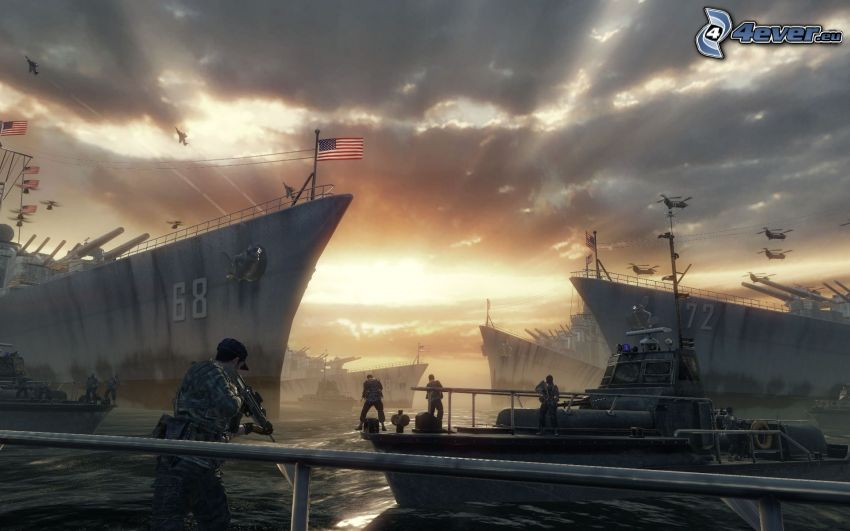 Call of Duty: Black Ops Zombies, fartyg, solstrålar
