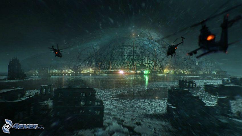 Crysis 3, militära helikoptrar
