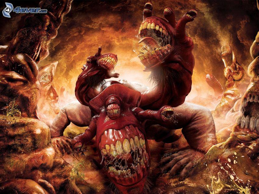 Dante's Inferno, monster