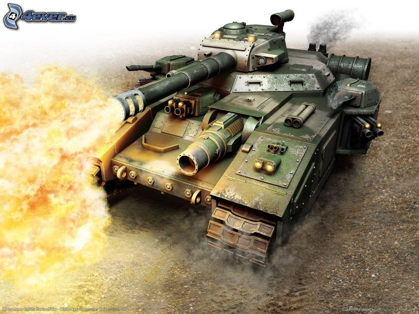 Dawn Of War II, tank, eldkastare, skott