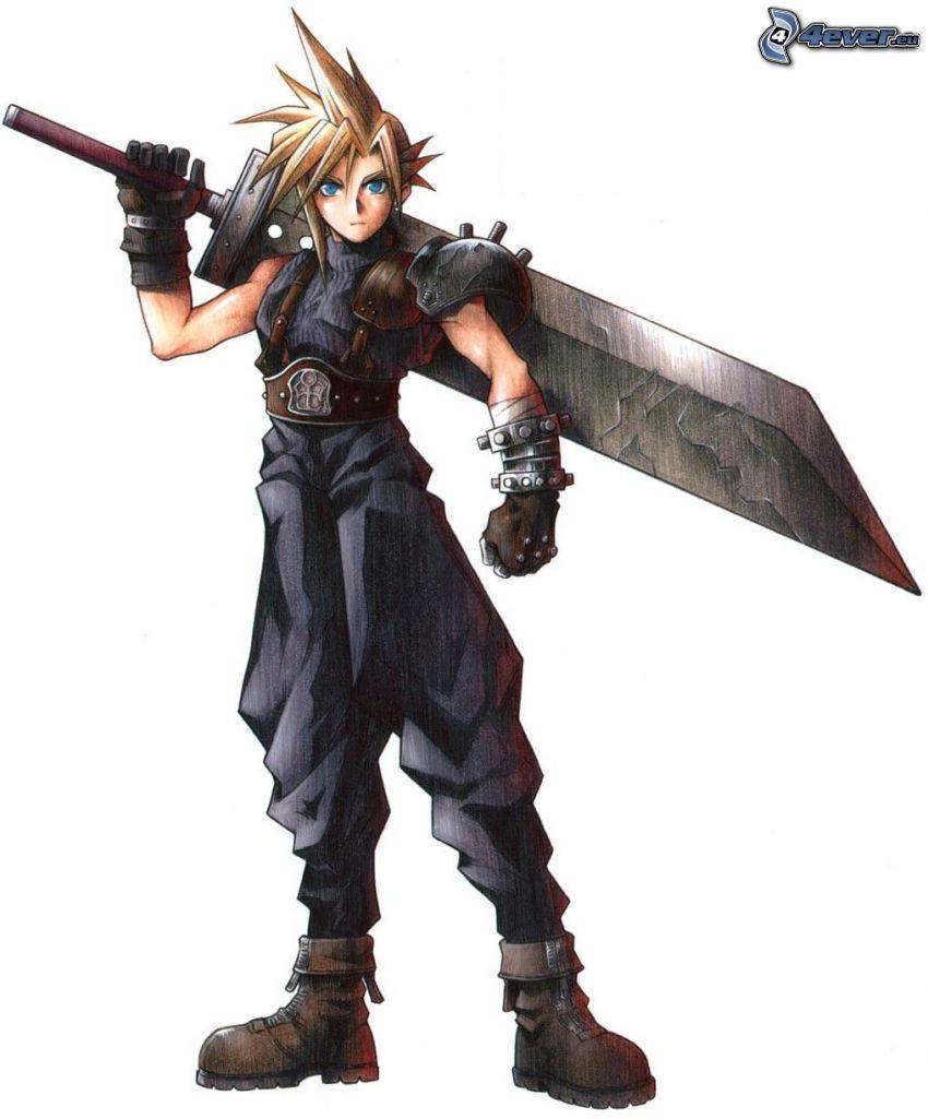 Final Fantasy VII, spel, anime
