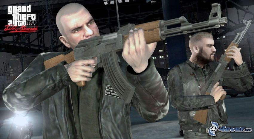 Grand Theft Auto, man med vapen, AK-47, kalashnikov