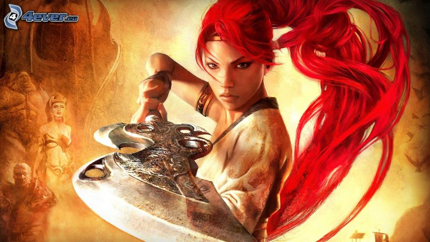 Heavenly Sword, rödhårig