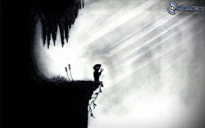 Limbo, silhuett av flicka