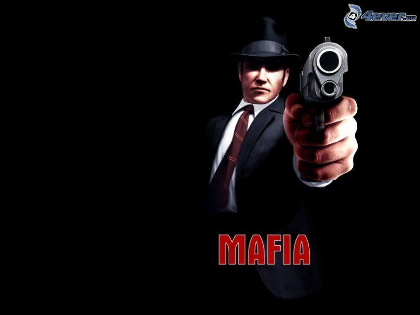 Mafia, spel, dator