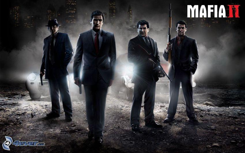 Mafia II, män i kostym