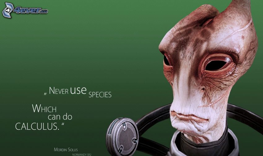 Mass Effect, utomjording