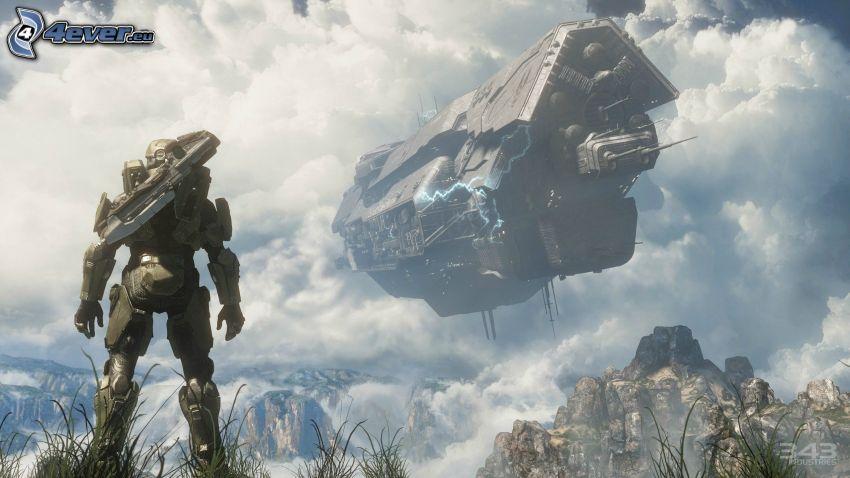 Master Chief - Halo 4, sci-fi soldat, rymdskepp
