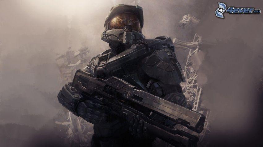 Master Chief - Halo 4, sci-fi soldat