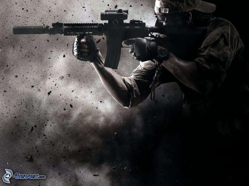 Medal of Honor, soldat med en pistol