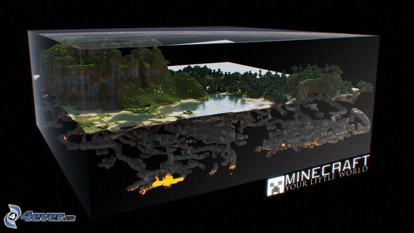 Minecraft, akvarium