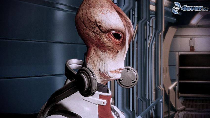 Mordin Solus, Mass Effect 2, utomjording