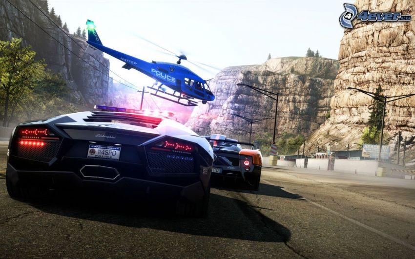 Need For Speed, Lamborghini, helikopter