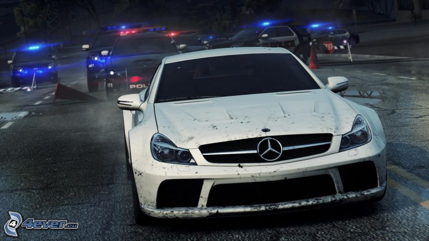 Need For Speed, Mercedes, polisbil