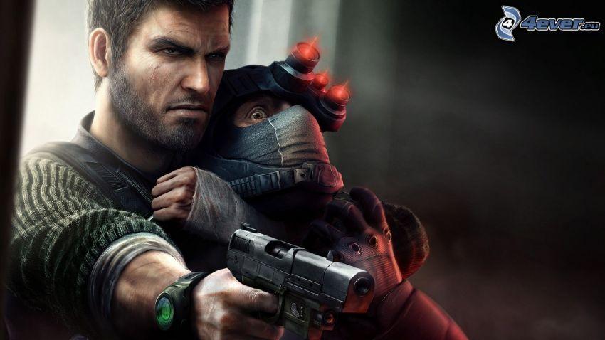 Splinter Cell: Conviction, man med vapen, gissla