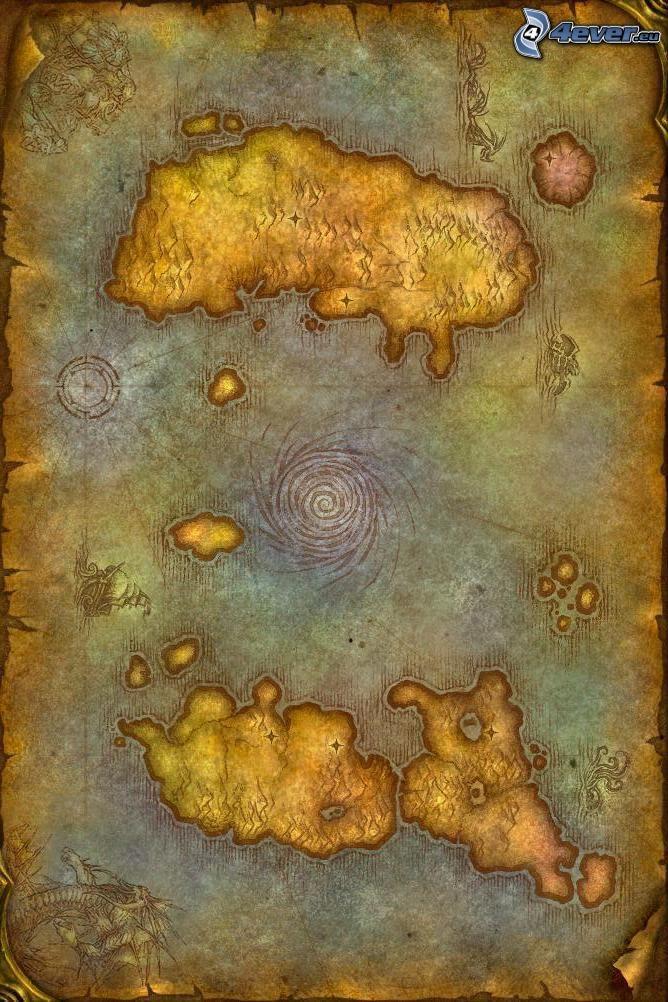 World of Warcraft, karta