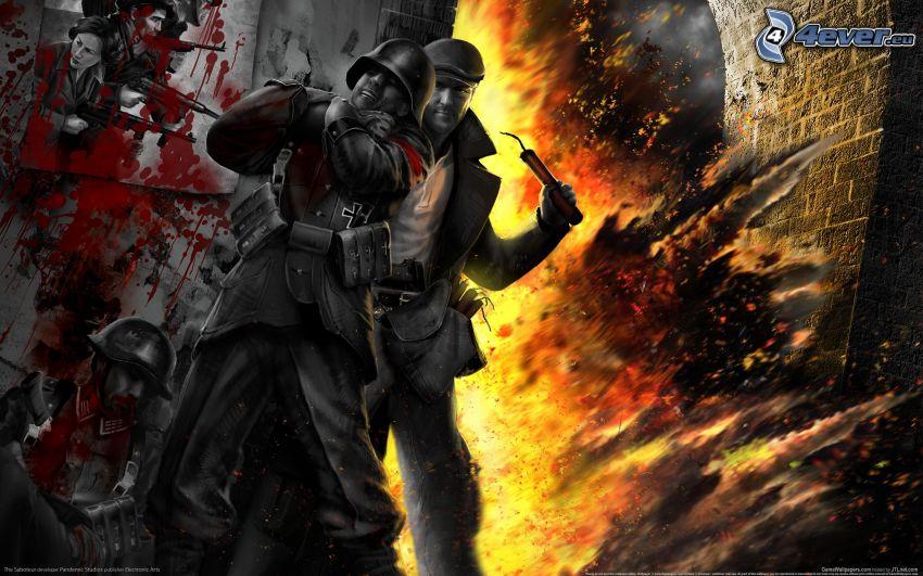 The Saboteur, mördare, explosion