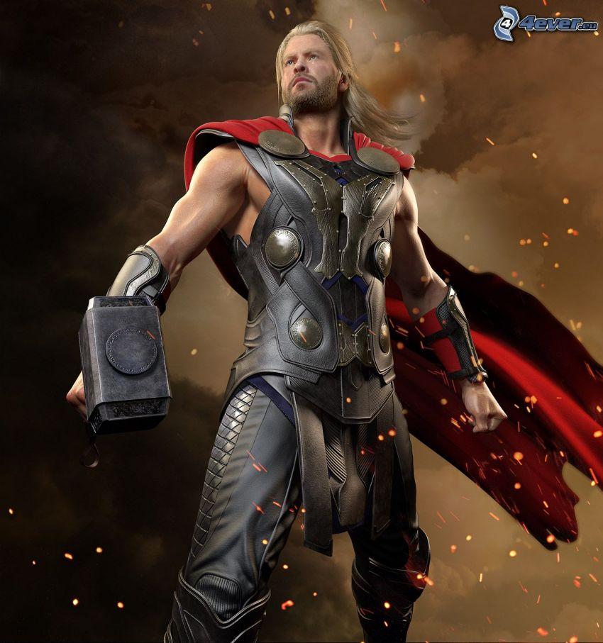 Thor, man, rustning