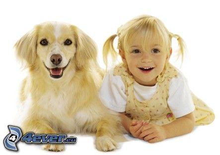 hund som liknar matte, flicka med hund