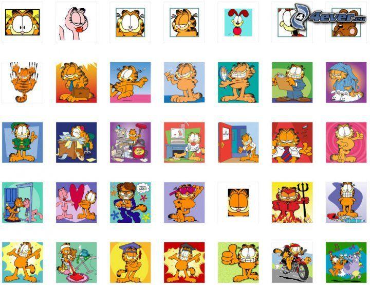 Garfield, teckning, katthane, tecknade serier