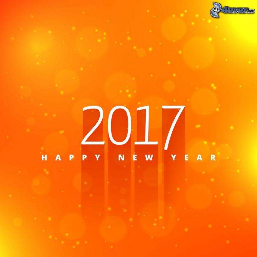 2017, gott Nytt År, happy new year, gul bakgrund