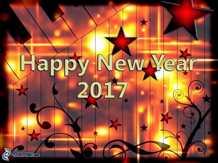 2017, gott Nytt År, happy new year, stjärnor