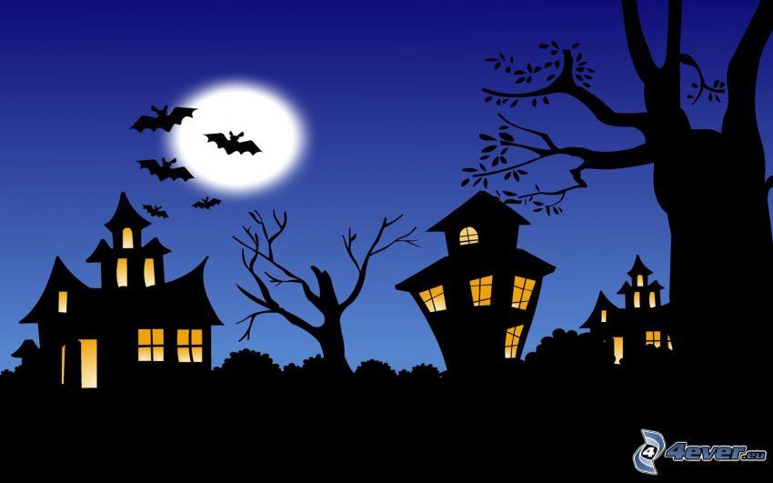 Halloween, spökhus