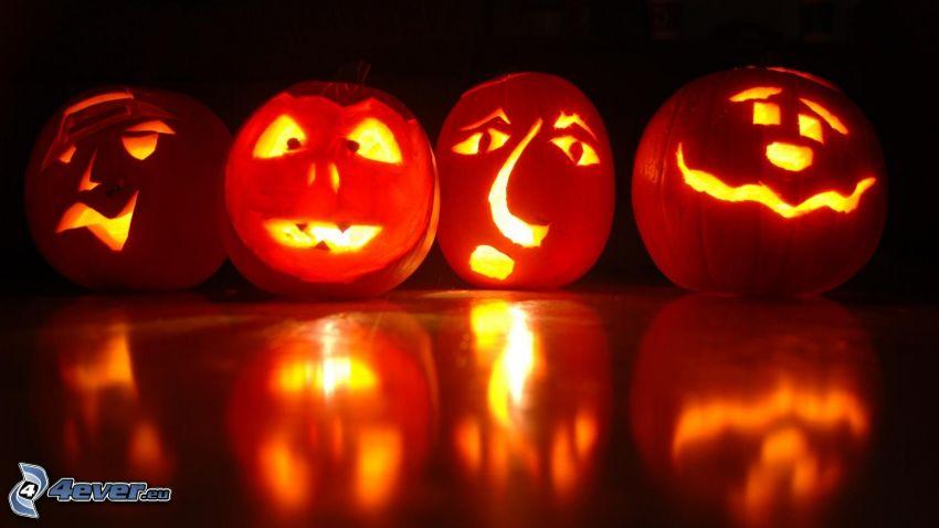 halloween pumpor, jack-o'-lantern