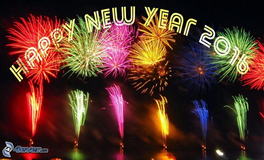 happy new year, 2016, fyrverkerier
