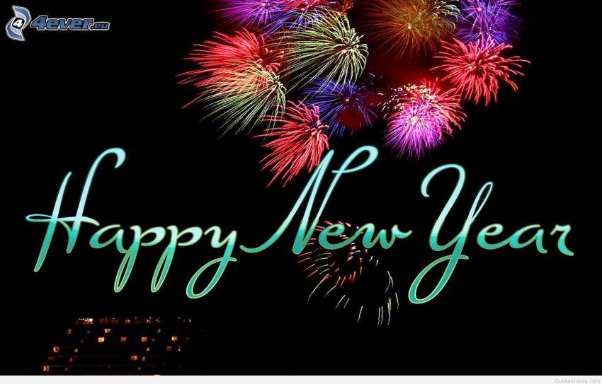 happy new year, fyrverkerier