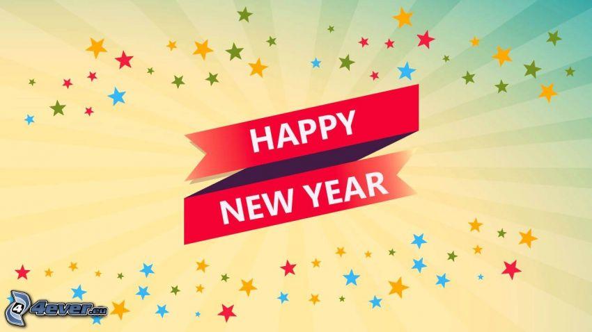 happy new year, gott Nytt År, 2017, stjärnor