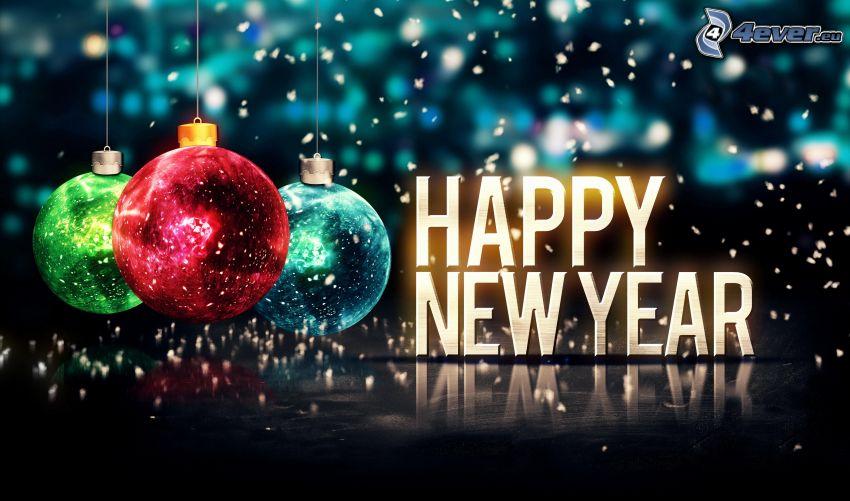 happy new year, julgranskulor