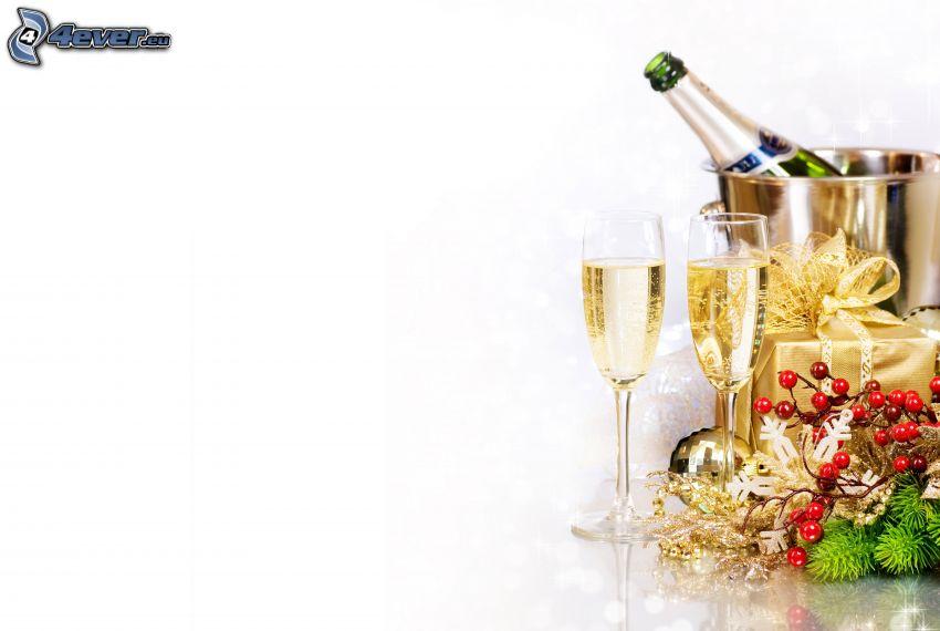 champagne, present
