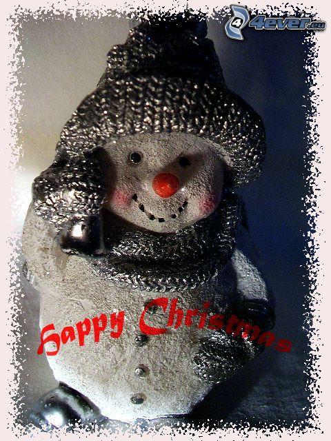 God Jul, snögubbe